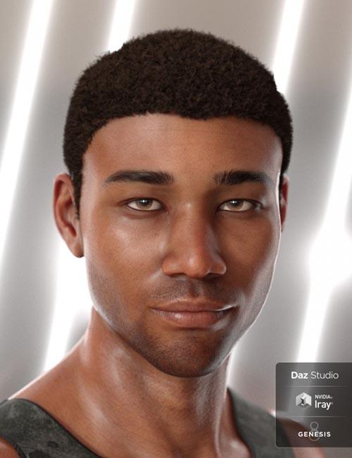 Malik Hair for Genesis 8 and Genesis 3 Male(s)