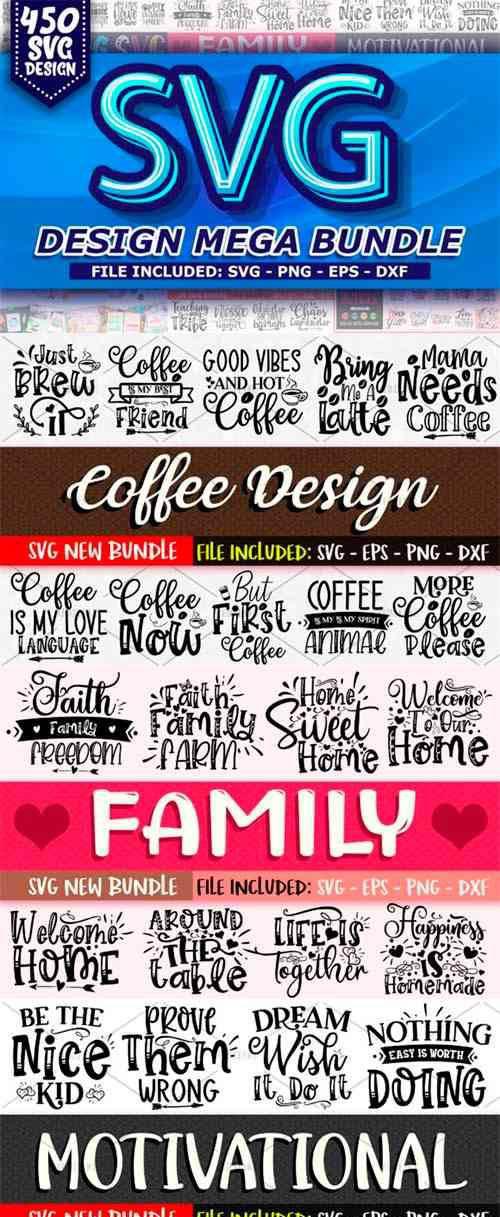 450 SVG Design Mega Bundle 2962510