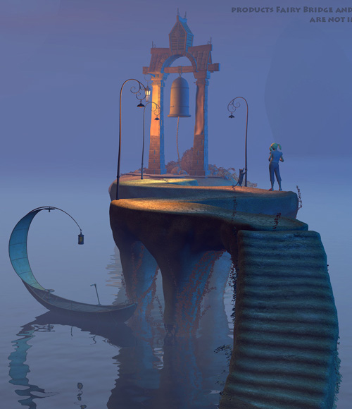 Bell island for Daz Studio