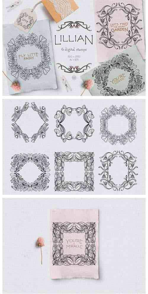 Vintage Floral Digital Stamps 2642856
