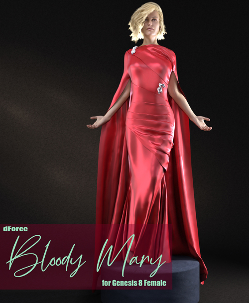 dForce Bloody Mary Dress for Genesis 8 Female