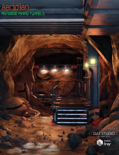 Aeridian Modular Asteroid Mining Tunnels