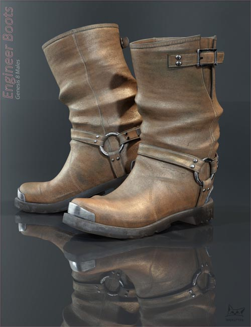 Engineer Boots for Genesis 8 Male(s)