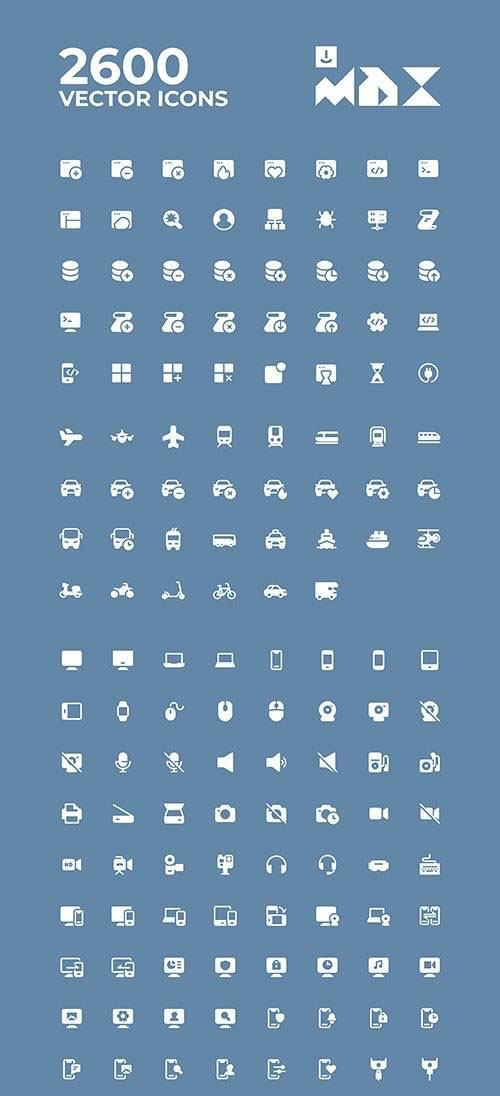 Uicon MAX - 2600 Vector Icons