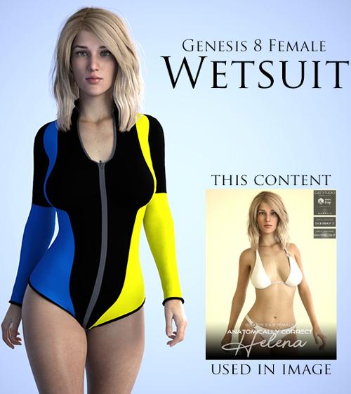 Wetsuit for Genesis 8 Female
