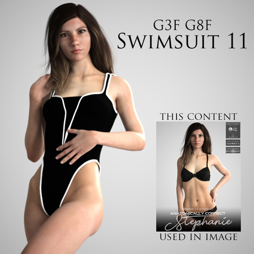Swimsuit 11 for Genesis 3 Female and Genesis 8 Female