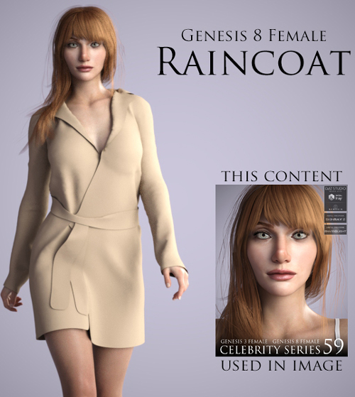 Raincoat for Genesis 8 Female