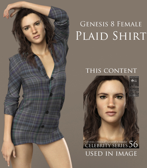 Plaid Shirt for Genesis 8 Female