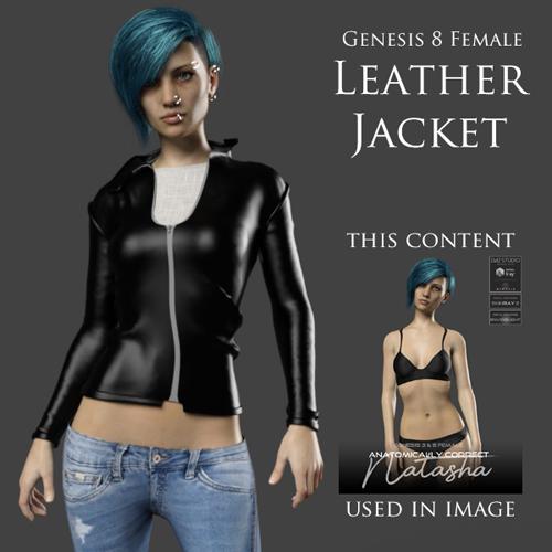 Leather Jacket for Genesis 8 Female