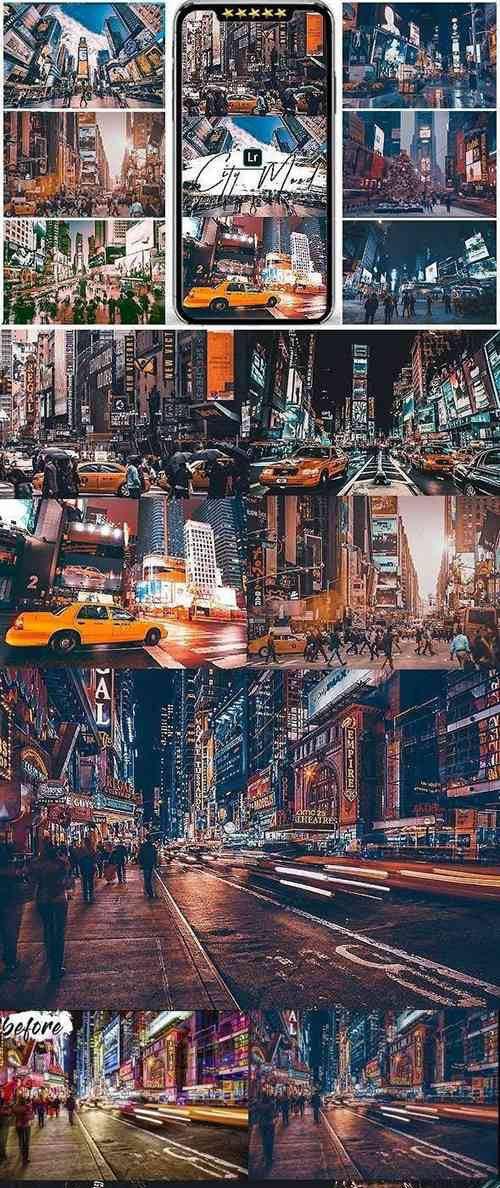 City Mood Presets For Mobile and Desktop Lightroom 25559915