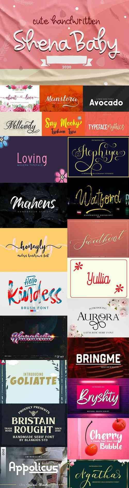 38 Fresh Modern Handwritten Fonts