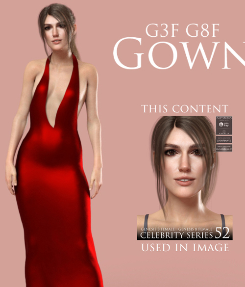 Gown for Genesis 3 Female and Genesis 8 Female