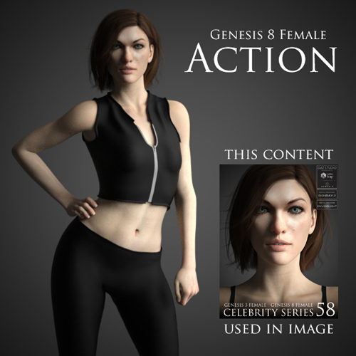 Action Outfit for Genesis 8 Female