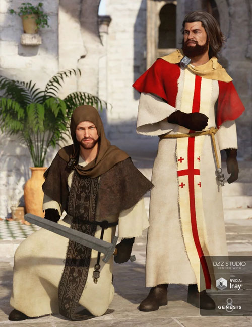 dForce Templar Outfit Textures