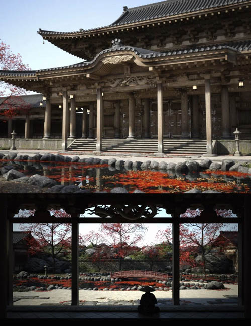 Old Japanese Temple