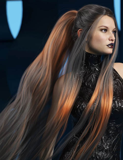Texture Expansion for Turbulent Tail Hair