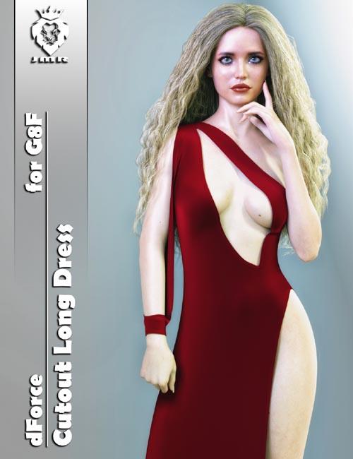 JMR dForce Cutout Long Dress for G8F