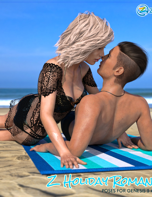 Z Holiday Romance - Couple Poses for Genesis 3 and 8