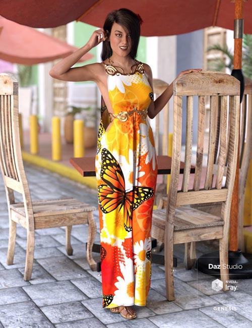 dForce Goddess of Grandeur Outfit for Genesis 8 Female(s)
