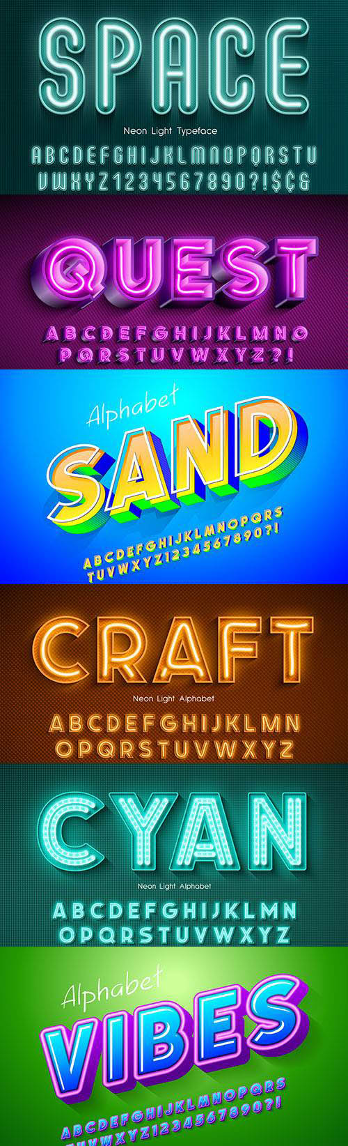 Editable font effect text collection illustration design 52