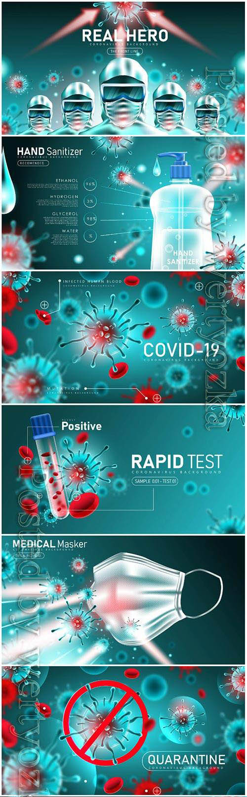 COVID 19, Coranavirus vector illustration sets # 29