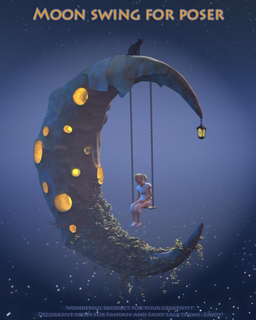 Moon swing for Poser