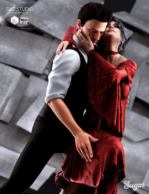 Passion Dance Pose Set for Genesis 8