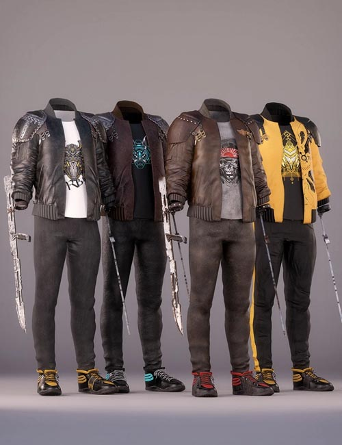 dForce Street Blade Outfit Textures