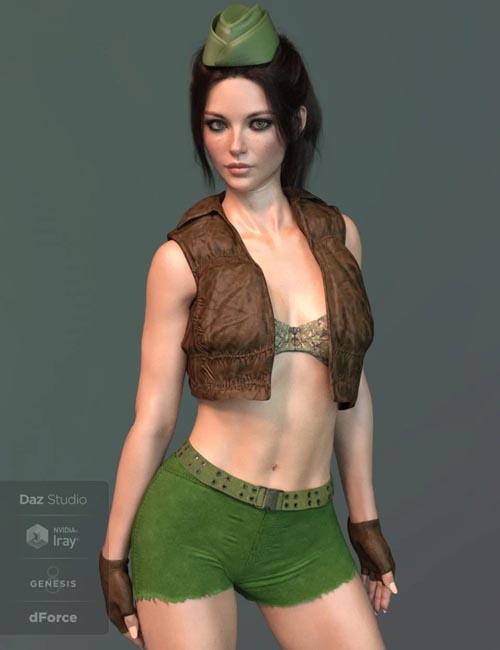X-Fashion Uniform 04 for Genesis 8 Female(s)