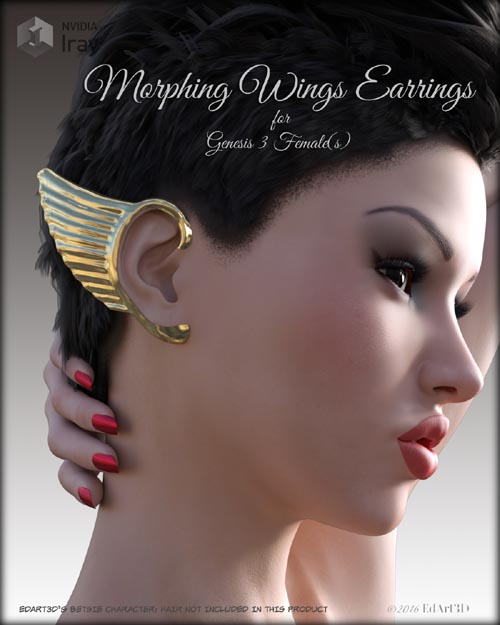 Morphing Wings Earrings for G3F