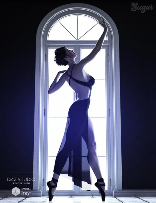 101 Series: Pure Grace Poses and Ballet Shoes for Genesis 8 Female