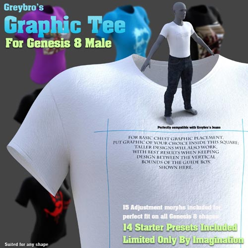 Greybro's Graphic Tee for Genesis 8 Male