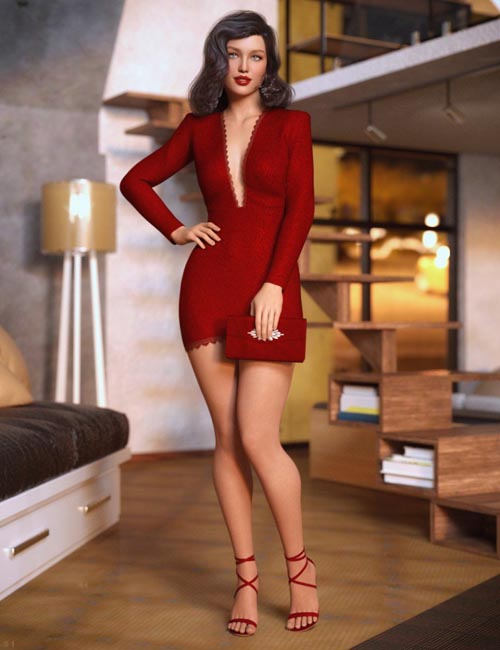 dForce Chic Club Outfit for Genesis 8 Female(s)