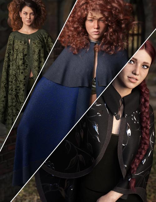 Texture Expansion for dForce High Fantasy Cloaks - Volume 2