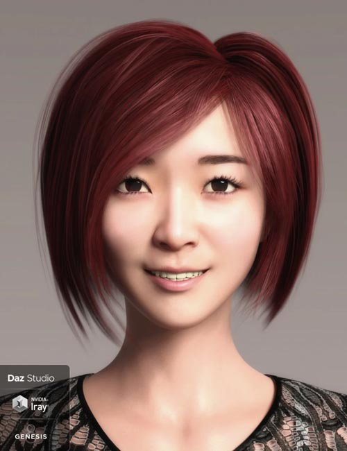 Hua Character And Hair for Genesis 8 Female