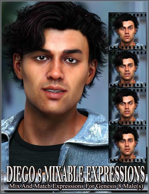 Mixable Expressions for Diego 8 and Genesis 8 Male(s)