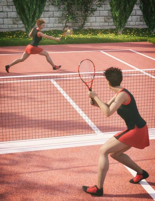 Tennis Poses for Genesis 8 Female