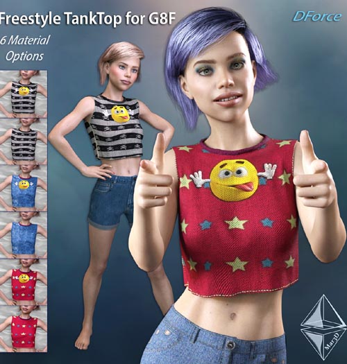 Freestyle TankTop for G8F - DForce