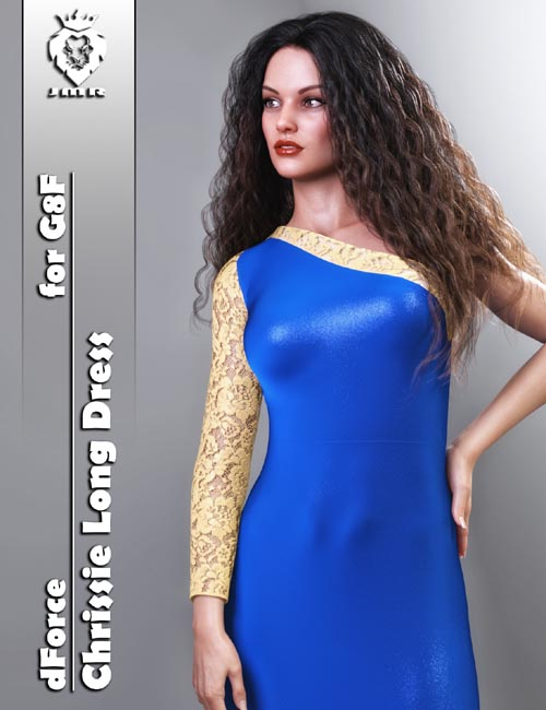 JMR dForce Chrissie Long Dress for G8F