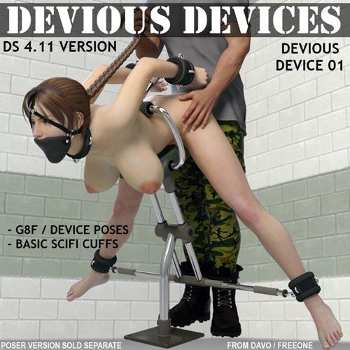 """Devious Devices"" Device 01 For DazStudio"