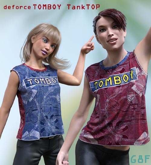 deforce Tomboy Tank-TOP for G8F