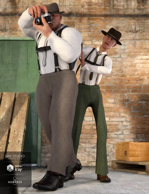 dForce Sleuth Detective Outfit Textures