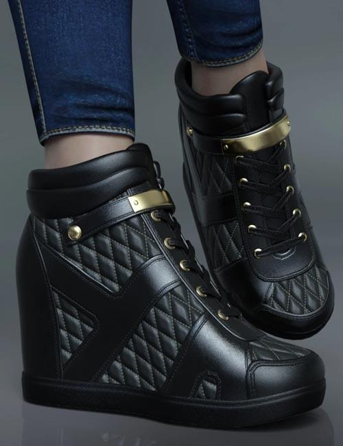 Wedged Sneakers for Genesis 8 Female(s)
