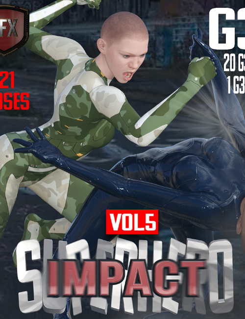 SuperHero Impact for G3F Volume 5