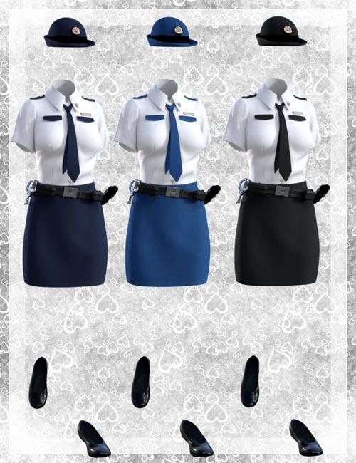 dForce Police Uniform for Genesis 8 Female(s)