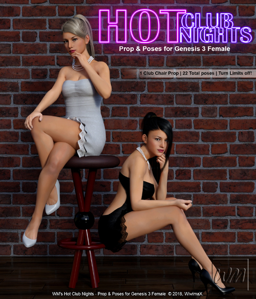 WM's Hot Club Nights - Prop and Poses for Genesis 3 Female