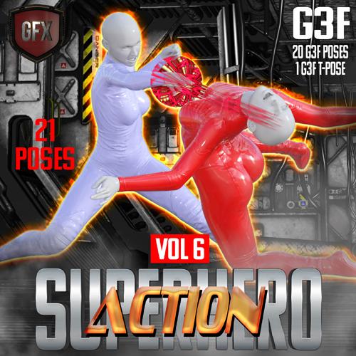 SuperHero Action for G3F Volume 6