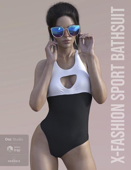 X-Fashion Sport Bathsuit for Genesis 8 Female(s)