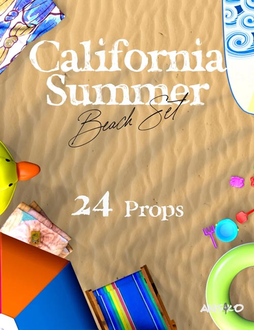 California Summer Beach Props