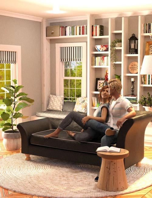 Calm Corner with Poses for Genesis 8